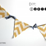DIY Tailgate Bunting from CraftyScrappyHappy.net