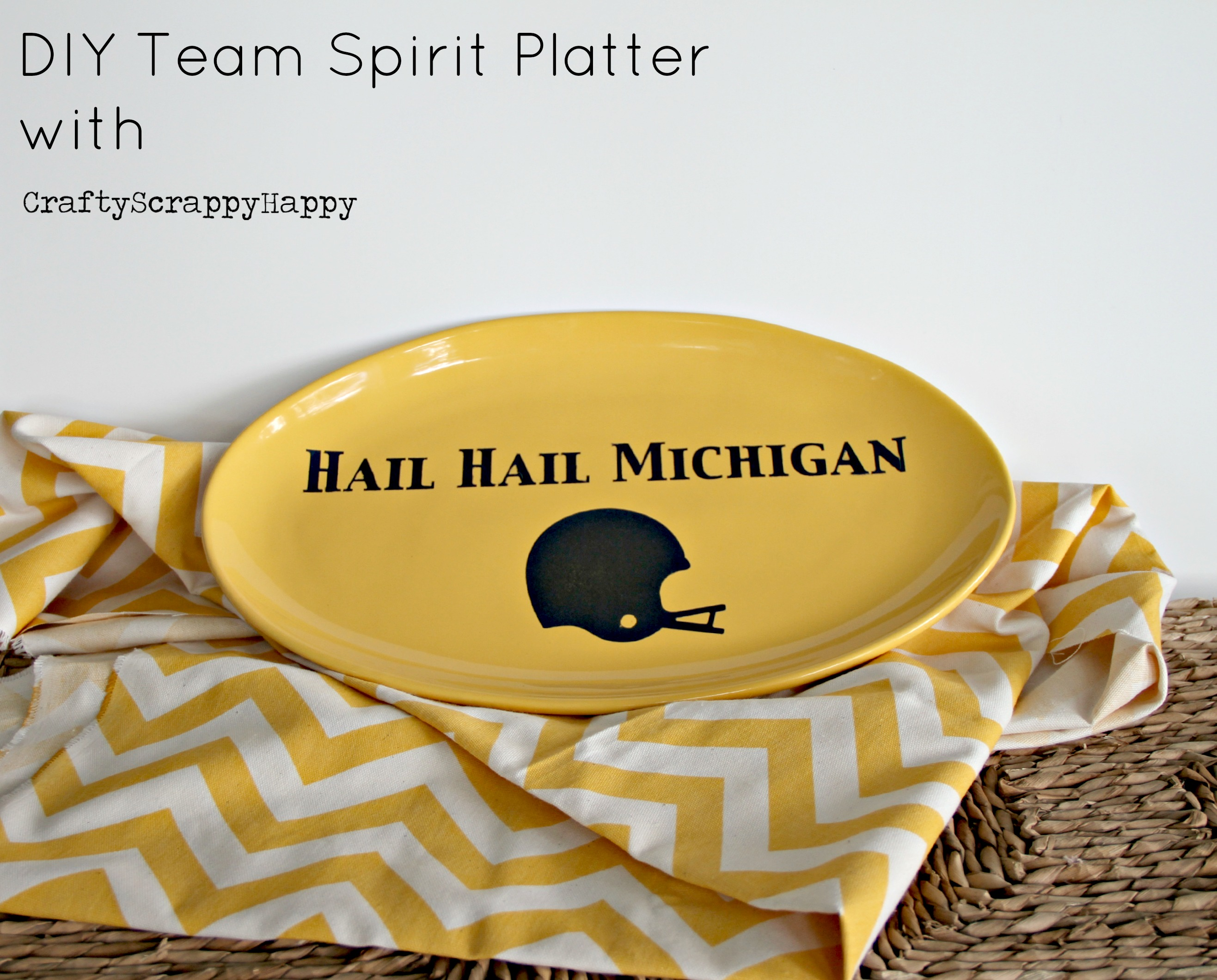 DIY Team Spirit Platter with Crafty Scrappy Happy