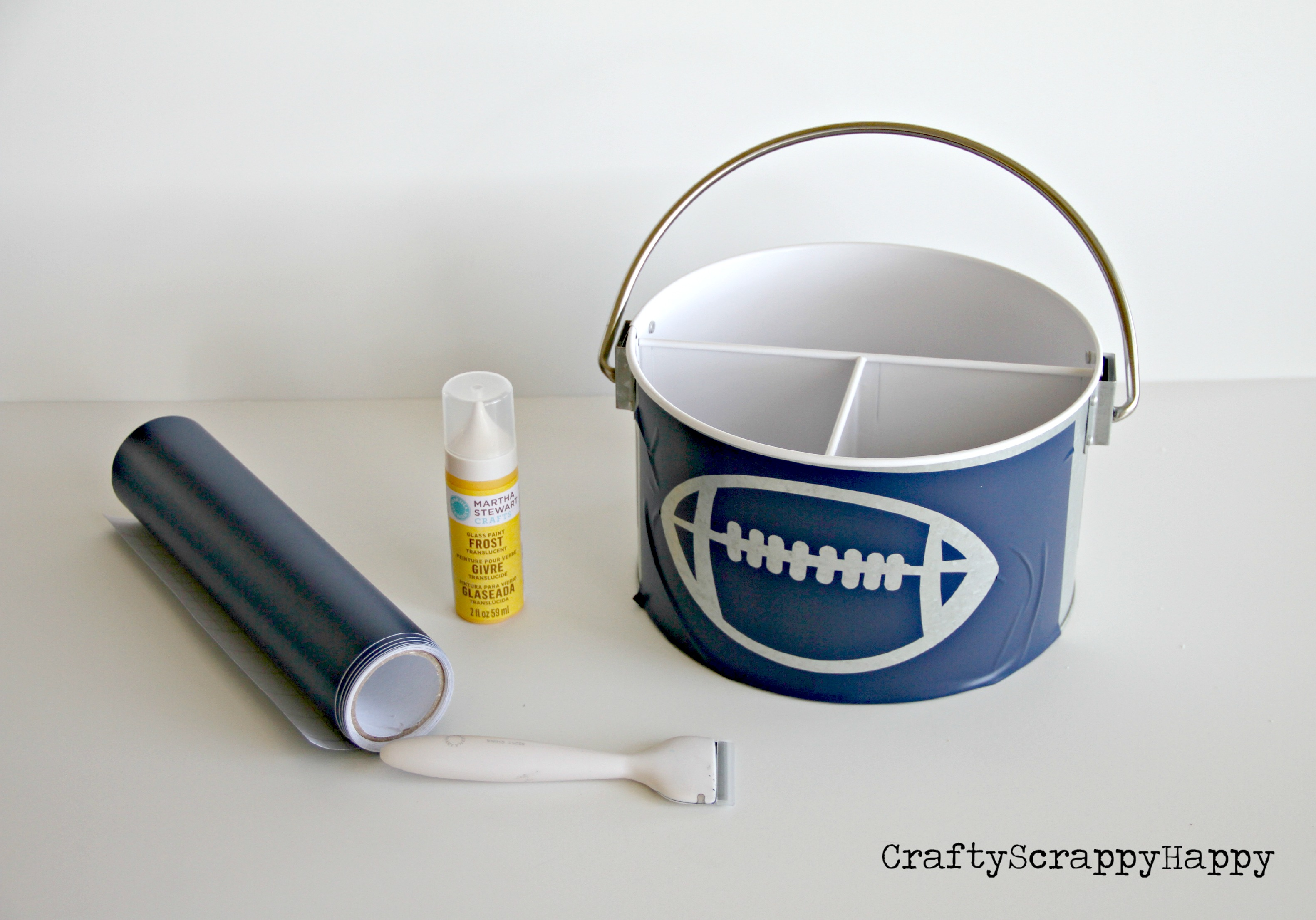 Personalized DIY Utensil Container at Crafty Scrappy Happy