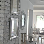 From a old wood burner to a chic brick wall