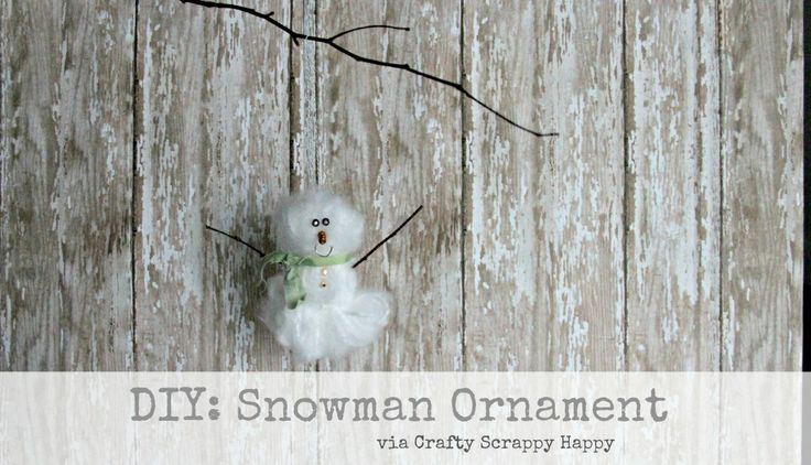 craftyscrappyhappy snowman ornament