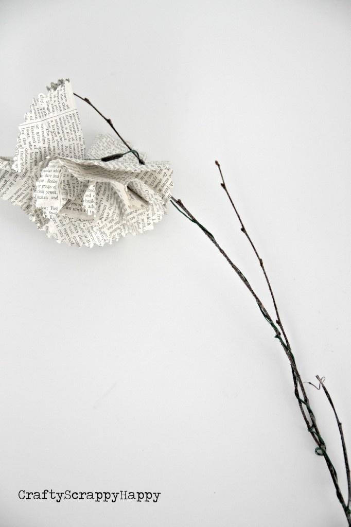 diy paper flowers crafty scrappy happy