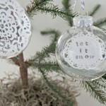 Let it Snow {DIY ornament}