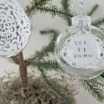 Let it Snow {DIY ornament}