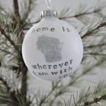 "Personalized ""Home"" Ornament"