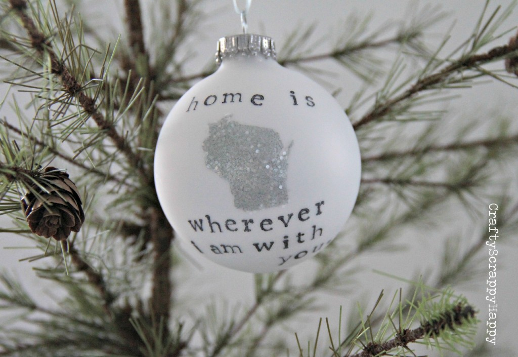 Personalized DIY Home Ornament via Crafty Scrappy Happy