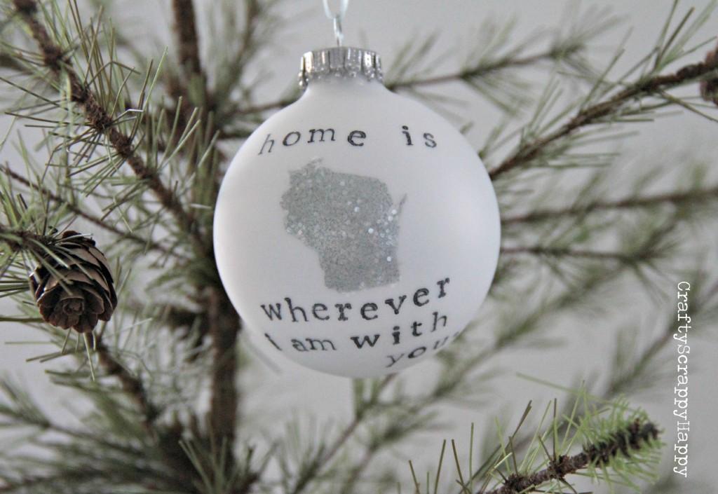 Personalized DIY Home Ornament via Crafty Scrappy Happy