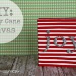 DIY Candy Cane Canvas
