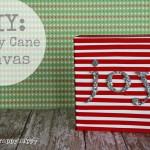 DIY Candy Cane Canvas