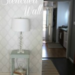 DIY Stenciled Wall via Crafty Scrappy Happy